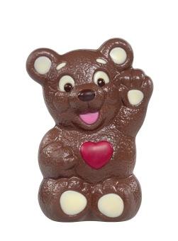 Chokladfigur - Hjärtbjörn - 90 gram -