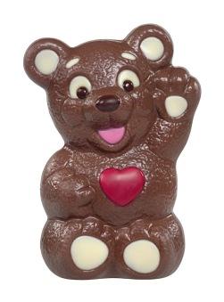 Chokladfigur - Hjärtbjörn - 200 gram -