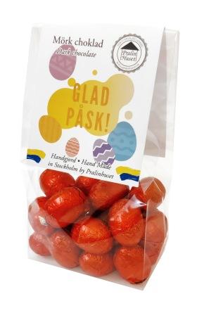 Påskpåse - Rubin - Mörka Chokladägg - 100 gram -