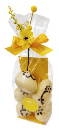 Påskpåse - Fjällsippor - Vita Chokladägg - 150 gram -