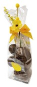 Påskpåse - Blåklocka - Mörka Chokladägg - 145 gram