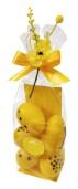 Påskpåse - Påsklilja - Vita Chokladägg - 165 gram