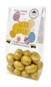 Påskpåse - Guld - Mörka chokladägg - 100 gram