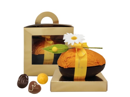 Pralinhusets pralinfyllda Chokladägg - 200 gram - Vanlig