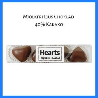 Pralinhuset - Hjärtstång Mjölkfri Choklad- 65 gram -