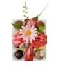 High Tea Selection - Gold - Clear - 12 bitar - Rosa pralinhusetband