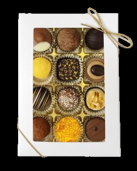 High Tea Selection - Gold - White - 12 bitar - Guldsnöre