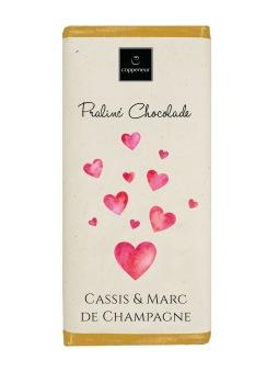 Chokladkaka - Hjärta - Cassis & Marc de champagne - 75 gram -