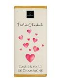 Chokladkaka - Hjärta - Cassis & Marc de champagne - 75 gram