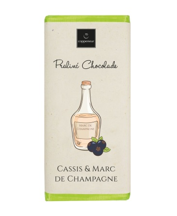 Chokladkaka - Flaska - Cassis & Marc de champagne - 75 gram -