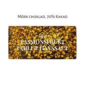 Pralinhuset - 70% Kakao - Passionsfrukt, Chili & Havssalt