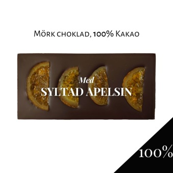 Pralinhuset - 100% Kakao - Syltad Apelsin - Mörk Choklad