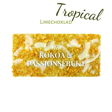 Pralinhuset - Limechoklad - Tropical (Kokos & Passionsfrukt) -