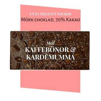 Pralinhuset - 70% Kakao - Kaffebönor & Kardemumma -