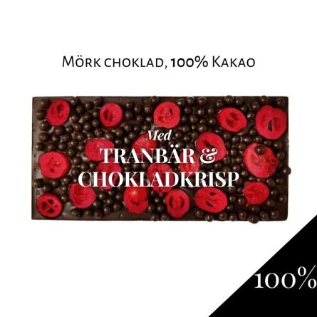 Pralinhuset - 100% Kakao - Tranbär & Chokladkrisp -
