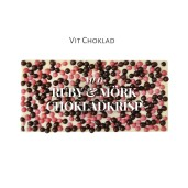 Pralinhuset - Vit Choklad - Rubykrisp & Mörk Chokladkrisp