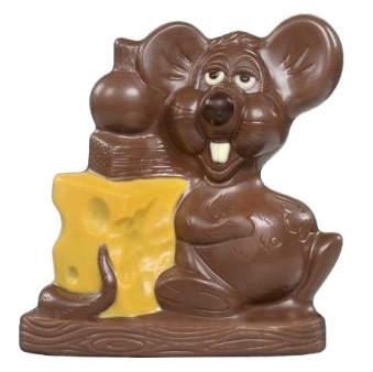 Chokladfigur - Mus med Ost - 125 gram -