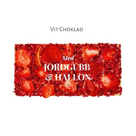 Pralinhuset - Vit Choklad - Jordgubb & Hallon -