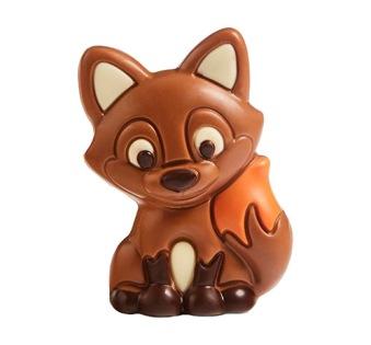 Chokladfigur - Räv i Mjölkchoklad - 40 gram -