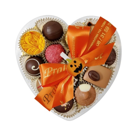 Halloween - Hjärtask Orange - 185 gram - Vanlig