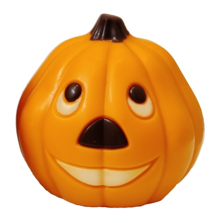 Chokladfigur - Orange Pumpa i Vit Choklad - 50 gram -