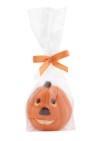 Chokladfigur - Orange Pumpa i Vit Choklad - 50 gram