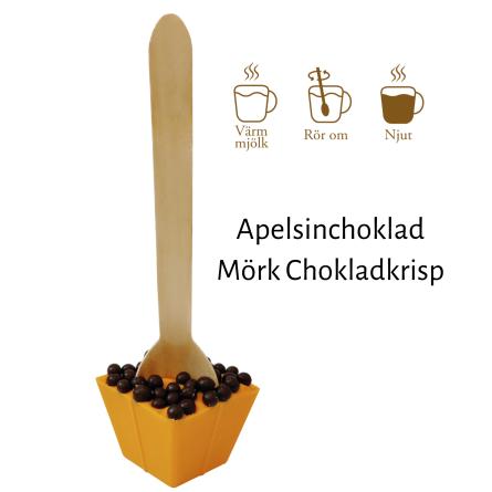 Pralinhuset - Drickchoklad - Apelsinchoklad - Chokladkrisp -