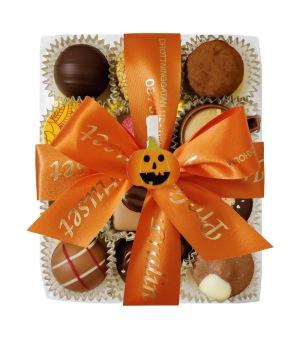 Halloweenask - Orange Band - 12 bitar - Vanlig
