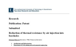 Reduction of thermal resistance