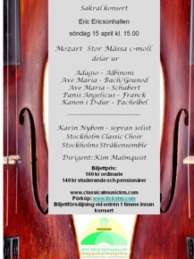 affisch sakralkonsert 15 april