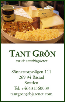 Beställ din ostbricka gos Tant Grön på Bjäre utanför Båstad