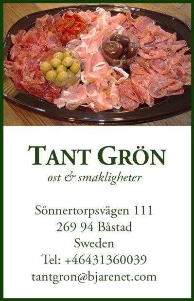 Beställ din charkbricka hos Tant Grön på Bjäre utanför Båstad