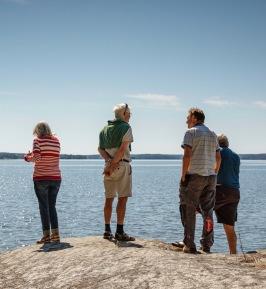 Härlig båtutflykt i Mälaren i bästa tänkbara väder. Här ett stopp på klubbholmen Hagskär.