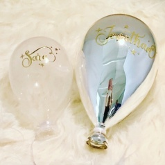 Personlig glasballong Large