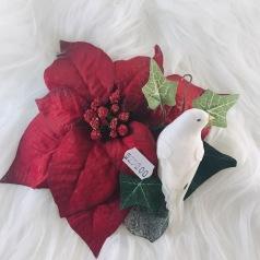 Hårblomma jul med duva