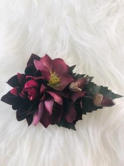 Hårblomma lila julrosor