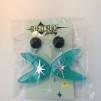 Turqoise glitter starburst boomerang