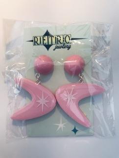 Pink Starburst boomerang