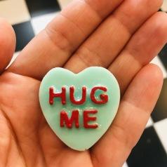 Hjärta- hug me- dark mint