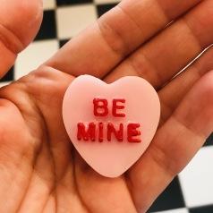 Hjärta- be mine- rosa