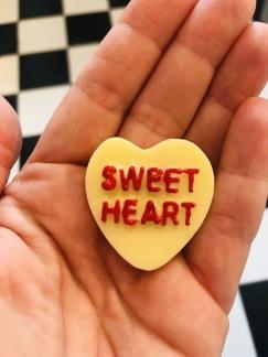 Hjärta- sweet heart- gul