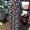 Kimono blåblom lång