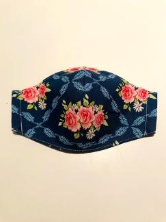 Munskydd Blå blom