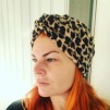 Twist knot turban Fleece - LEOPARD