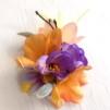 Vårblomma orange/lila med ris