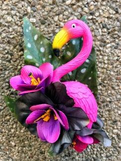 Svart/lila flamingo