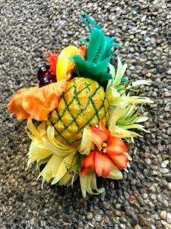 Hårblomma exotic med frukter
