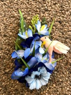 Hårblomma Blå hawaii med kollibri