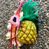 Hårblomma tropisk ananas/ flamingo