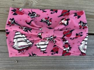 Hårband rosa sailor